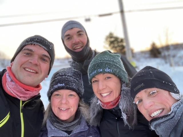 Paula Thomas and her running group