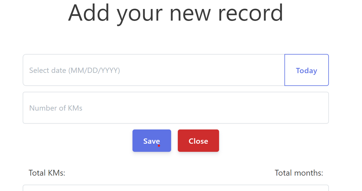 Add your new record